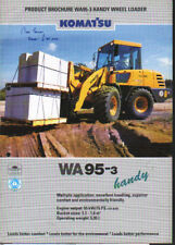 """Komatsu """"WA95-3"""" Handy Wheel Loader Shovel Brochure Leaflet"""