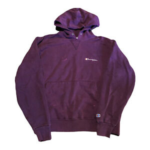 Vintage 90s Champion Reverse Weave Purple Hoodie Logo Sweatshirt Men's Large