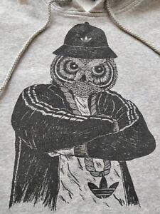Adidas Originals OWL Hip-Hop Hoodie Track Top Jacket Hooded Hype Logo Sweatshirt