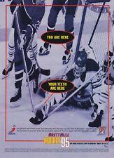 Original BRETT HULL HOCKEY 95 Sega SNES video game print ad page advertisement