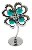 Crystocraft Crystal 4 (Four) Leaf Clover Ornament Swarovski Elements Gift Boxed