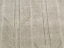 Christopher Farr Herringbone Stripe Linen Print Fabric- Peacock Natural 1.75 yd
