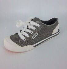 Rocket Dog Jazzin Canvas Sneaker's Grey/White Size UK 4 EU 37 NH088 BB 10