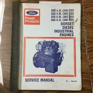 Ford 4.2L 5.9L 6.0L 6.2L DORSET DIESEL ENGINE SERVICE SHOP REPAIR MANUAL 194-155