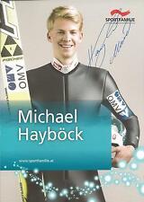 Autogramm Michael Hayböck Skispringer  Österreich Silber Olympia 2014 Portrait 2