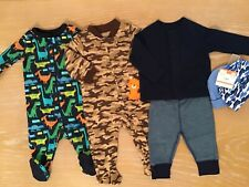 Infant Boy's Clothing Lot of 6 (3 New) Size 0-3 Months