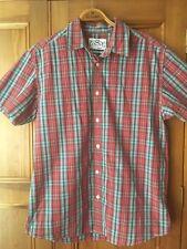 Mens Levis Short Sleeved Shirt - Medium, Checked, Plaid