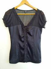 Classic Black! Esprit Collection size 6 black top in excellent condition