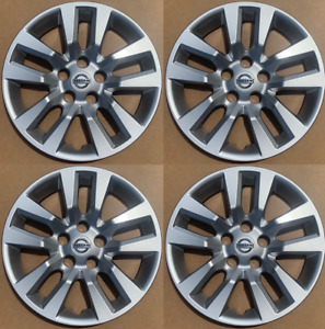 """4 NEW 16"""" Silver Hubcap Wheelcover that FIT 2007-2018 Nissan ALTIMA hub cap"""