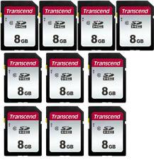 10 Transcend SDHC 8GB Class 10 Memory for Canon ELPH 190 SX740 G9X G7 T6 T5i T5