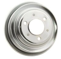 Engine Crankshaft Pulley-Chrome Plated Steel Crankshaft Pulley Mr Gasket 4961G