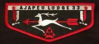 AJAPEU OA LODGE 33 BSA BUCKS COUNTY PATCH DSA DISTINGUISGED SERVICE AWARD FLAP