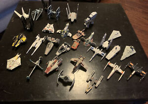 Star Wars Hasbro Titanium Series And Hot Wheels Mix Die-Cast Lot Over 25 Ships