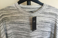 Ladies M&S Collection Size 16 Grey Marl Non Iron Soft Warm Feel Long Sleeve Top