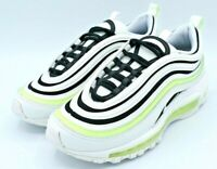 Nike Air Max 97 White Black Volt Running Shoes Women's Size 5 921733-105 NEW
