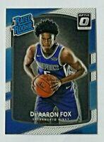 2017-18 Panini Optic Rated Rookie De'Aaron Fox RC #196 Sacramento Kings