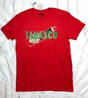 New$20 TABASCO HOT SAUCE BOTTLE T-SHIRT red green Cotton licensed MENS MED adult