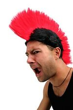 Carnival: Wig Punk Mohawk Mohican IRO Anarchy Black/Red lm-420-p103/PC13