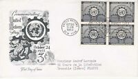 United Nations NY12 - Enveloppe 1er jour 1953 Commemorating Technical 3c