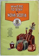 NOVA SCOTIA CANADA BROCHURE DIRECTORY OF HOTEL MOTEL LODGING 1955 VINTAGE TRAVEL