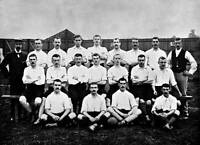 OLD SPORT PHOTO Football Circa 1896 The Leicester Fosse Team Pose Together