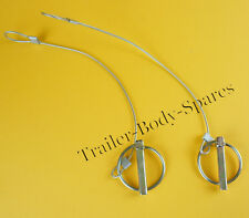 FREE UK Post 2 X  8mm Lynch Pin with Plastic Coat Cable - Brian James Trailers