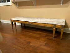 Weiman Marble Top-French Provincial Coffee Table