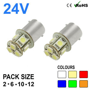 24v Side Light 149 246 R5W R10W 8 SMD BA15s LED Hella Spot Bulbs HGV Truck