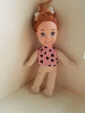 1993 The Flintstones Pebbles Stuffed Plush Doll By Mattel