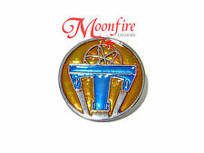 TOMORROWLAND 2015 MOVIE ATOMIC SYMBOL PIN BADGE IMAGINE NOTHING IS IMPOSSIBLE