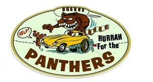 HURRAH FOR PANTHERS  Vinyl Decal Sticker AMOCO PETROL PENRITH nrl RUGBY LEAGUE