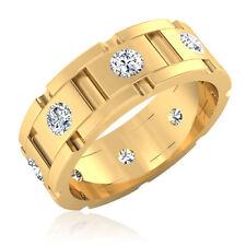 0.88 Ct Mens Natural Diamond Engagement Ring 14K Yellow Gold Band Size 8 9 10 11