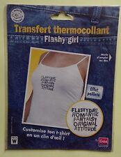 ) transfert thermocollant : FLASHY GIRL - effet pailleté