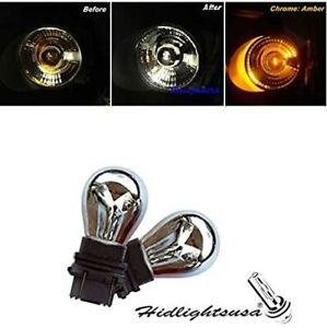GP Thunder 3157 4157 3057 Chrome Silver Amber Lights Bulb Tail Turn Signal Brake