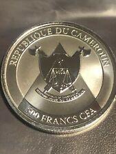2019 Republic Of Cameroon 1 oz 999 Fine Silver Cheetah BU 500 Francs