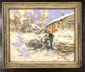 Berthe Des Clayes Original Early 20th Century Art from Private Collection Pastel