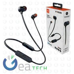 Auricolare Bluetooth Originale JBL T110BT Cuffie In-ear Wireless Magnetici Nero