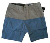 Volcom Men's Baden Short Casual Walk shorts Pewter Mushroom Size 33 34 36 38