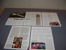 VINTAGE..LANCAIR IV-P..HISTORY/PHOTOS/DETIALS/SPECS..RARE! (509N)