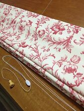 ROMAN BLIND in IRONWORK SCROLL CRANBERRY Laura Ashley Fabric MADE TO MEASURE