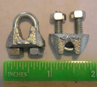 "Cable Clamps 1/8"" U-Bolts Galvanized Clamps Steel Cable Wire Clips U Bolt Clamp"