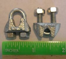 """Cable Clamps 1/8"""" U-Bolts Galvanized Clamps Steel Cable Wire Clips U Bolt Clamp"""