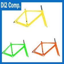 Carbon Road Bike Frameset Di2 Race Bicycle Part Glossy Matt Yellow/Orange/Green