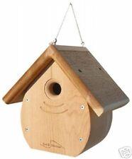 Kettle Moraine Tear Drop Nestbox Wren & Chickadee Bird House natural roof 9100