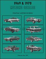 1969-1970 Pontiac Chrome Trim Molding Catalog Bonneville Catalina Grand Prix