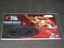 KHALID EL-AMIN SIGNED AUTOGRAPHED PACK PULLED CERTIFIED AUTHENTIC ROOKIE CARD