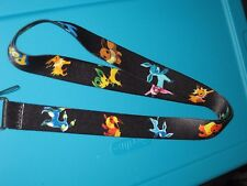 NEW Pokemon Pikachu Eevee Neck Lanyard Strap Cell Mobile Phone ID Card Key chain