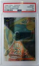 1994 Collectors Choice Michael Jordan GOLD SIGNATURE Platinum Foil #402, PSA 10!