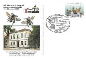 Commemorative Germany Arnstadt 2004, 83th Wanderkongress deutschspr. Imker Bees