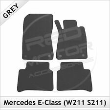 Tailored Carpet Floor Mats for MERCEDES E-Class W211 S211 2002-2009 GREY